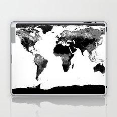 World Map  Black & White Laptop & iPad Skin