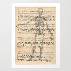 Nothing but bone Art Print