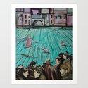 WALKING THE DOGS by MAGDA RYTEL Art Print