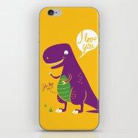 The Friendly T-Rex iPhone & iPod Skin