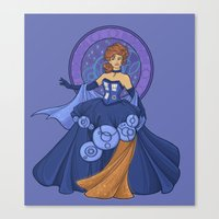 Gallifreyan Girl Canvas Print