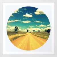Dirty Back Road Art Print
