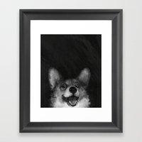 Sausage Fox Framed Art Print