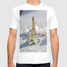 Paris Mens Fitted Tee White SMALL