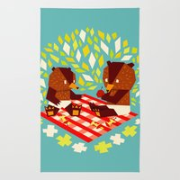 picknick bears Rug