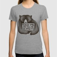 Feed Me And Tell Me I'm … Womens Fitted Tee Tri-Grey LARGE