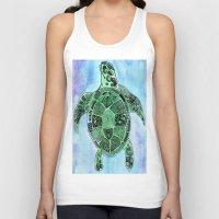 Tatoo Sea Turtle Unisex Tank Top