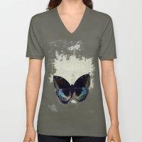 Vintage Butterfly 4 Unisex V-Neck