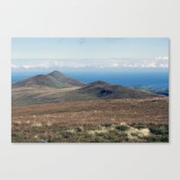 North Barrule And Maugho… Canvas Print