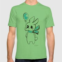 Rabbit ballon Mens Fitted Tee Grass SMALL