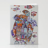 steampunk turtle Stationery Cards