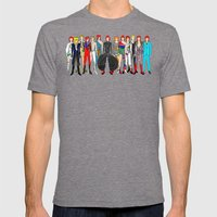 Red Bowie Group Fashion Outfits Mens Fitted Tee Tri-Grey SMALL