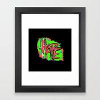 Hope (retro neon 80's style) Framed Art Print