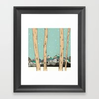 Behind The Forest Framed Art Print