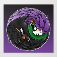 Gotham Yin Yang Canvas Print
