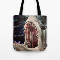 Mako Shark of Dark Waters Tote Bag