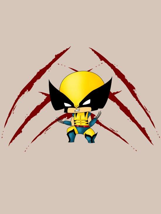 Chibi Wolverine Art Print