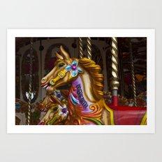 Crazy Horses Art Print