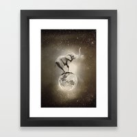 Space collection : True Love Framed Art Print