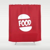 FOOD Logo Fun Generic Fo… Shower Curtain