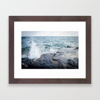 Rough waters- color  Framed Art Print