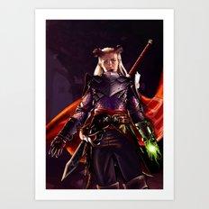 Dragon Age Inquisition - Eva the Qunari warrior Art Print
