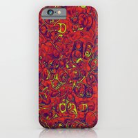 iPhone & iPod Case featuring Ipad skins, Iphone, Computer, Canvas, Print, Red, Abstract, Funky by CARROL