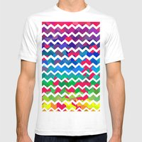 Mixed Colors Mens Fitted Tee White SMALL