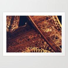 Eiffel at Night Art Print