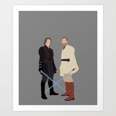 Anakin and Obi Star Wars Print Art Print