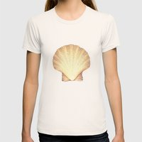 concha de mar Womens Fitted Tee Natural SMALL