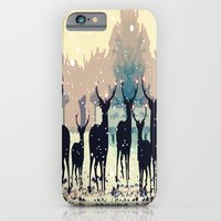 Deer In The Snowy Forest iPhone 6 Slim Case