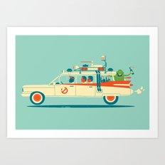 Party in the Back Art Print