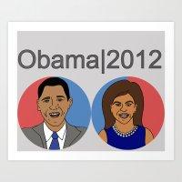 Obama, 2012 Art Print