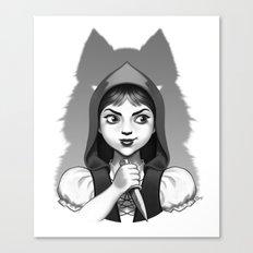 Little Red Riding Hood's Surprise Canvas Print