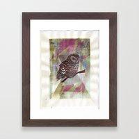 Bird Screenprint Framed Art Print