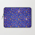 Blue Sub-atomic Lattice Laptop Sleeve
