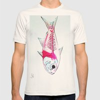 My First Water Color Mens Fitted Tee Natural SMALL
