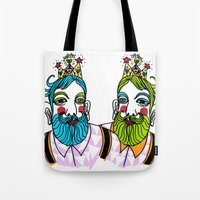 Crown Beard Twins Tote Bag