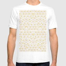 Geometric Diamond repeating Mens Fitted Tee White SMALL