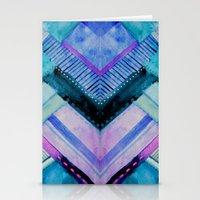 Blue Patchwork Stationery Cards