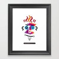 Type Faces No.2: David B… Framed Art Print