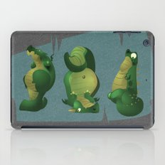 3 dragons in a cave iPad Case
