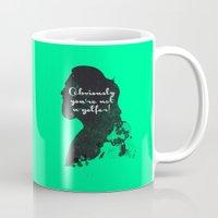 Not a golfer! – The Big Lebowski Silhouette Quote Mug