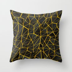 Yellow Wire Throw Pillow