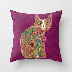 sugar cat Throw Pillow