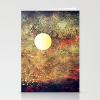 Moon Over The Sea Stationery Cards