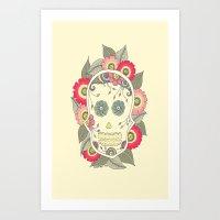 ColoredSkull Art Print