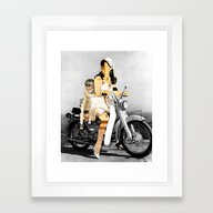 CardinalsRoller Collage Framed Art Print