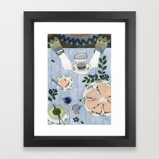 Blueberry Scones Framed Art Print